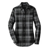C1807W Ladies Plaid Flannel Shirt