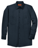 C1744MT Mens Long Size Long Sleeve Industrial Work Shirt