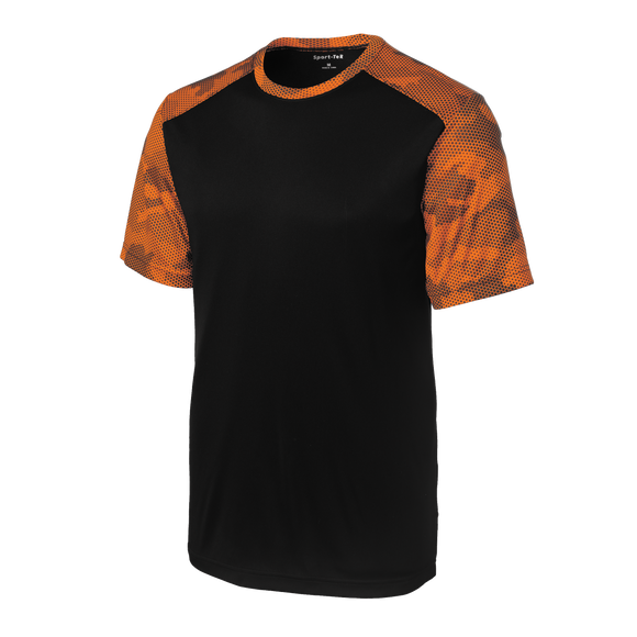 C1641M Mens CamoHex Colorblock Tee