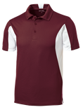 C1765M Mens Side Blocked Micropique Polo