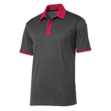 C1810M Mens Heather Contender Contrast Polo