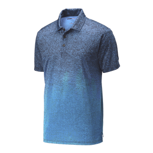 C1910 Mens Ombre Heather Polo