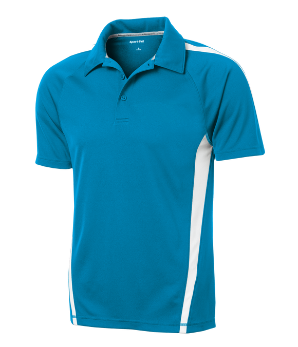 C1764M Mens Micro-Mesh Colorblock Polo