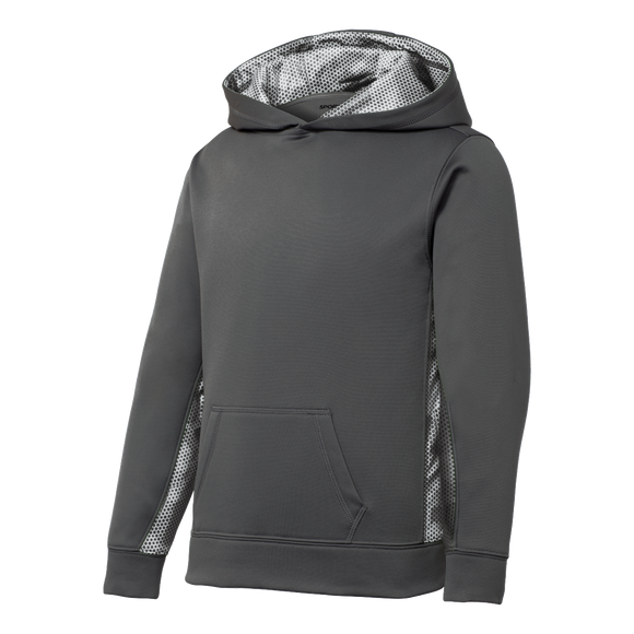 CY1815  Youth CamoHex Fleece Hoodie