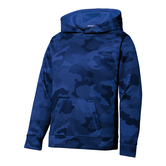 CY1803  Youth CamoHex Fleece Hoodie