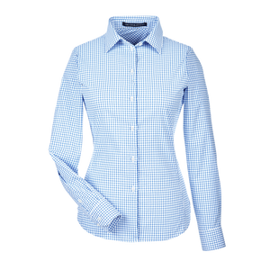 C1957W Ladies CrownLux Performance Micro Windowpane Shirt