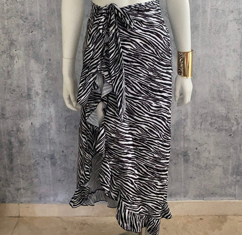 Zebra Bolero Cover Up Skirt