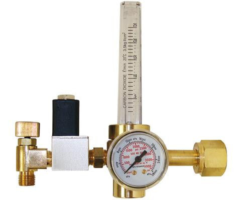 CO2 Regulator with Solenoid and Needle Valve