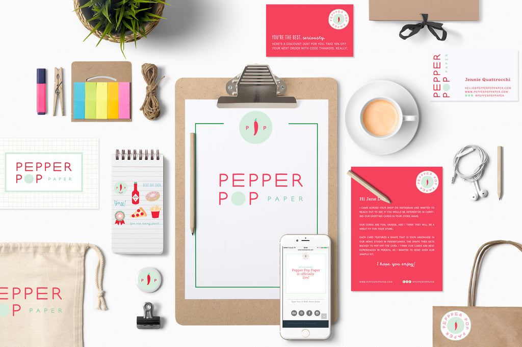 Pepper Pop Paper Marketing Materials