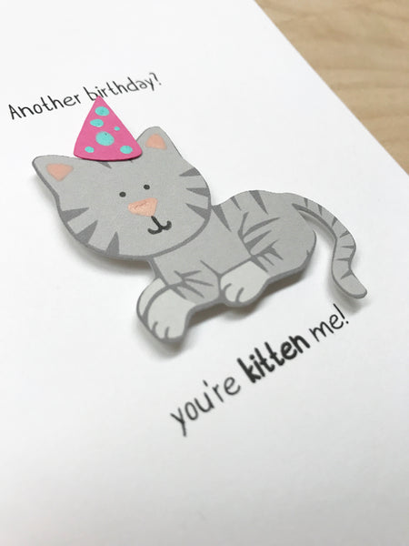 Another birthday? You're kitten me! Cat Birthday Card | Birthday Card