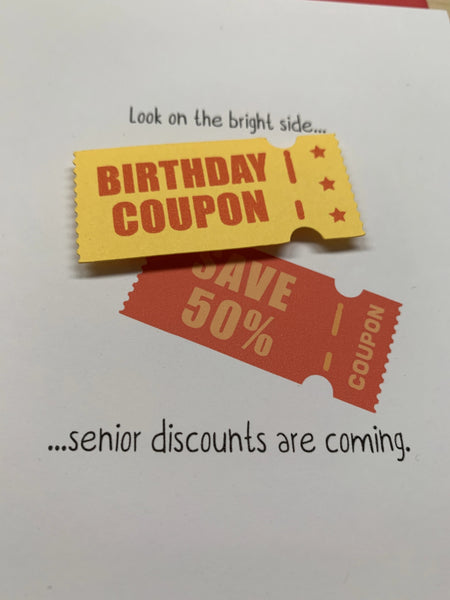 SENIOR DISCOUNTS ARE COMING