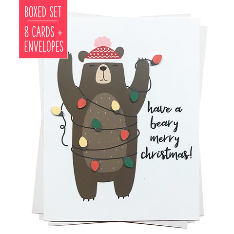 HAVE A BEARY MERRY CHRISTMAS | Boxed Set of 8