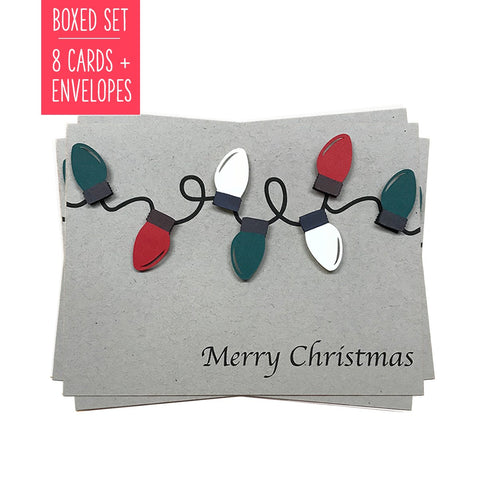 MERRY CHRISTMAS LIGHTS | Boxed Set of 8