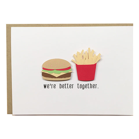 Burger & Fries Love Card | Love Card