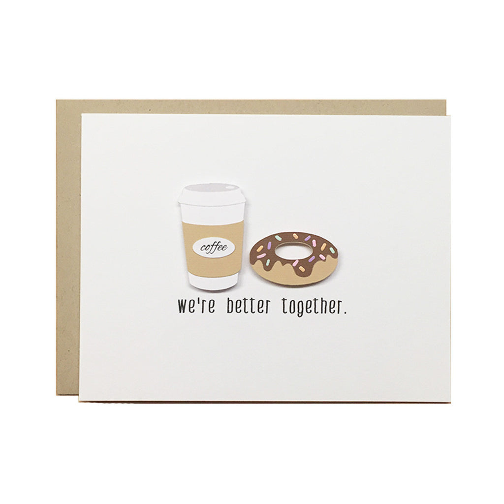 Coffee & Donut Love Card | Love & Friendship Card