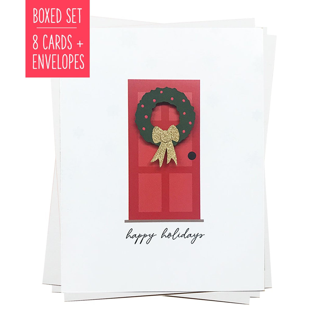 HAPPY HOLIDAYS FRONT DOOR | Boxed Set of 8