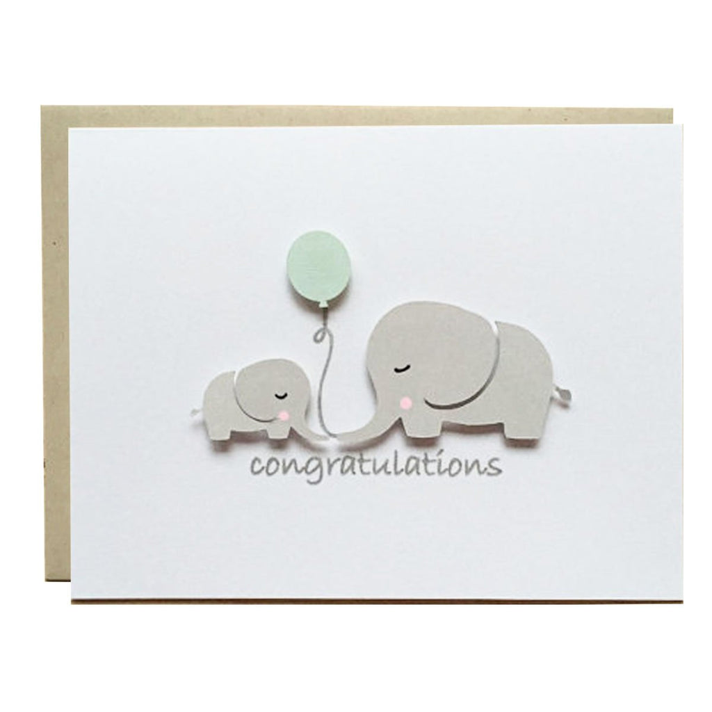 ELEPHANT BABY SHOWER - BLUE BALLOON