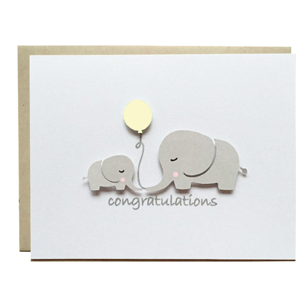 ELEPHANT BABY SHOWER - YELLOW BALLOON
