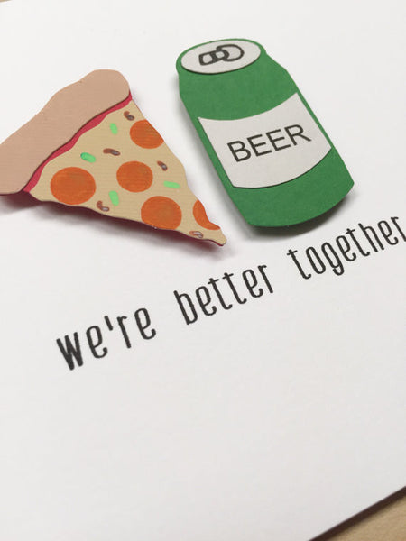 We're Better Together | Funny Love, Friendship Card
