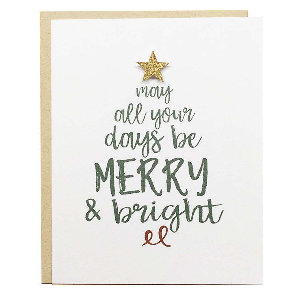 May All Your Days Be Merry & Bright | Christmas Card