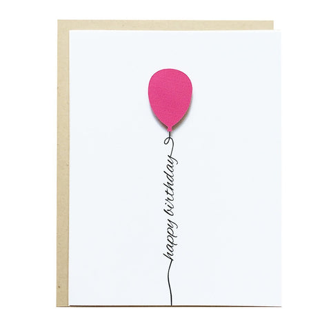 PINK BALLOON HAPPY BIRTHDAY