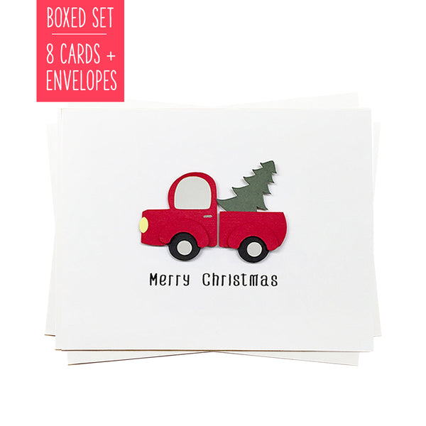 RUSTIC CHRISTMAS TRUCK | Boxed Set of 8