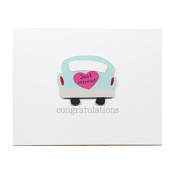 Wedding Car Congratulations Card
