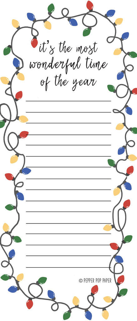 IT'S THE MOST WONDERFUL TIME CHRISTMAS LIST | Notepad