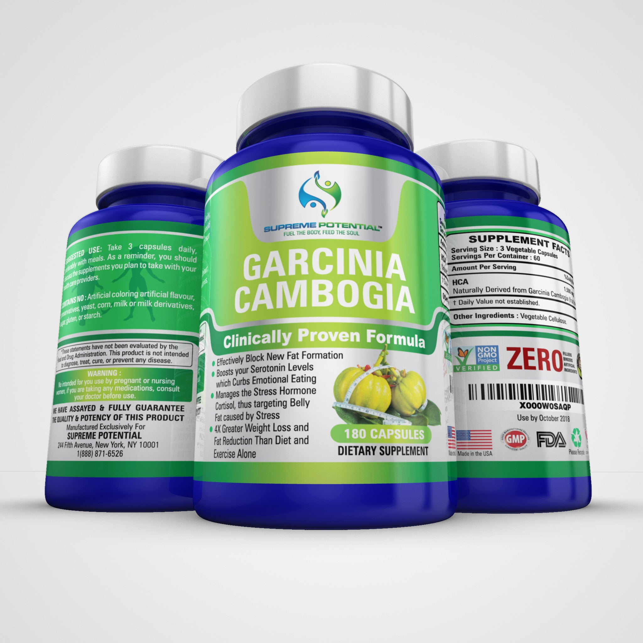 Garcinia Cambogia Extract Natural Weight Loss Supplement Pure Ultra