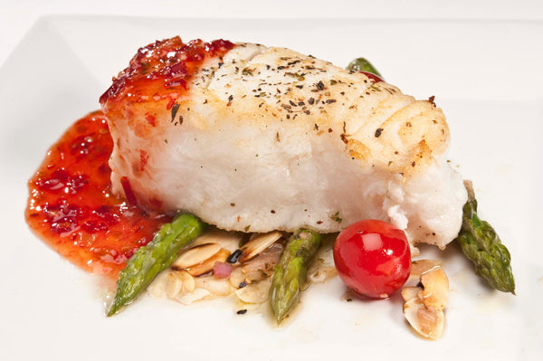 Halibut 6 oz portions, 10 lb case
