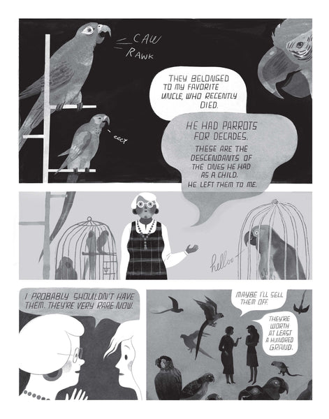I, Parrot: A Graphic Novel by Deb Olin Unferth and Elizabeth Haidle