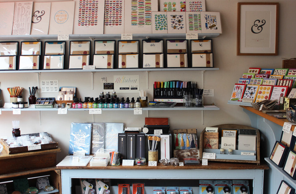 Inside Meticulous Ink's stationery shop