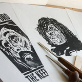 Woodcut Printmaking WORKSHOP - Wednesday 26th June 2019 10.30am to 12.30pm