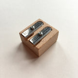 M+R Wooden Double Hole Sharpener