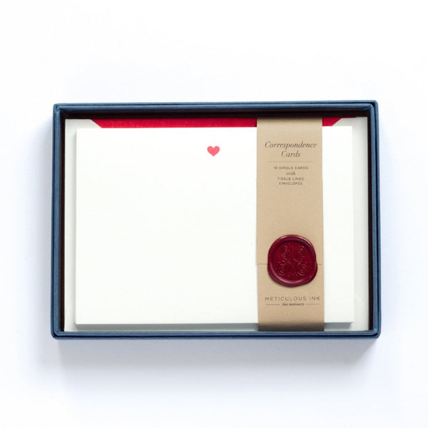 Letterpress Heart Correspondence Cards