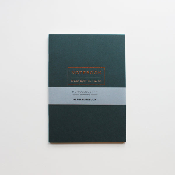Large Green Plain Notebook