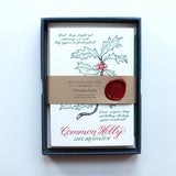 Christmas Card - Common Holly