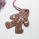 Christmas Decoration Postcard - Gingerbread