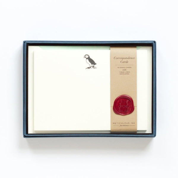 Letterpress Puffin Correspondence Cards