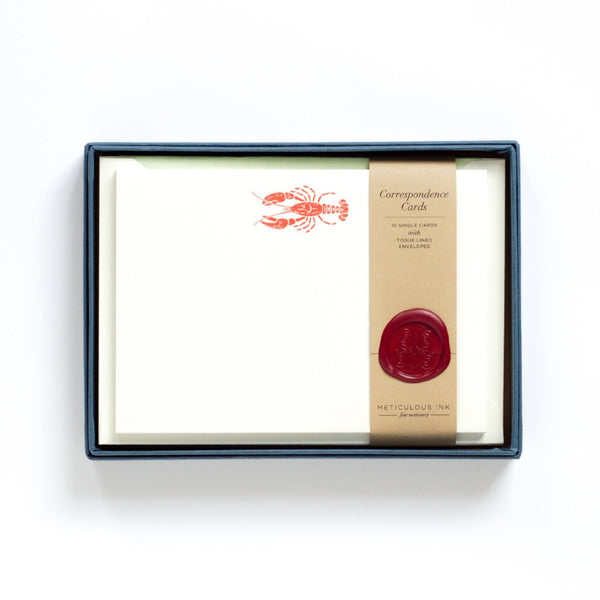 Letterpress Lobster Correspondence Cards