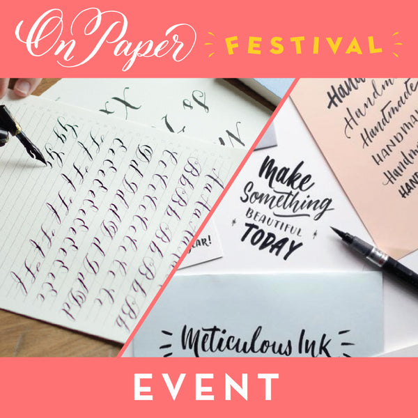 Lettering & Calligraphy Drop-in Session - Tuesday 25th June 2019 3.00pm to 4.00pm