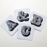 Letterpress Alphabet Coaster