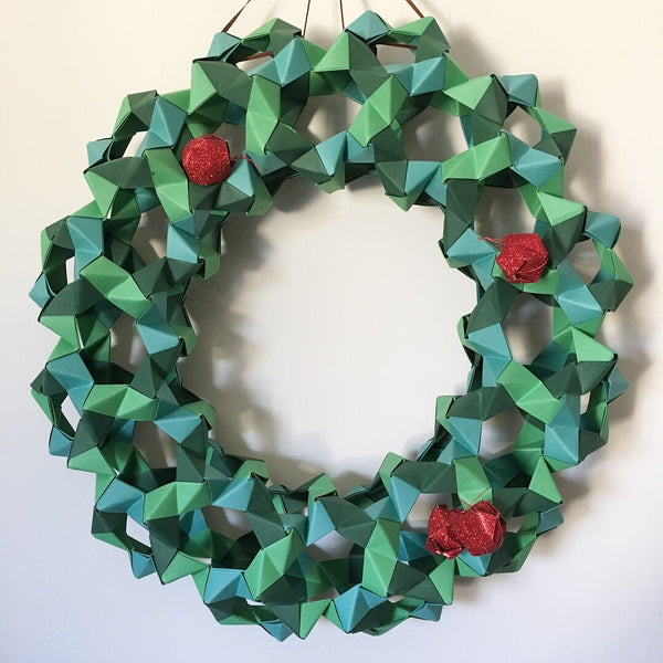 Geometric Origami Wreath Kit