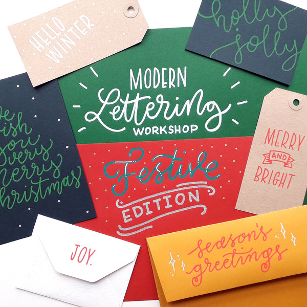Modern Lettering Workshop - Festive Edition
