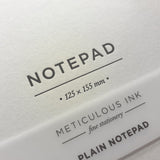 Small Plain Notepad