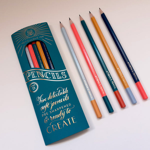 Personalised Meticulous Ink Pencils - 5 Pack