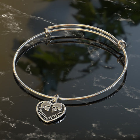 Charm Bangle - GR Two Hearts