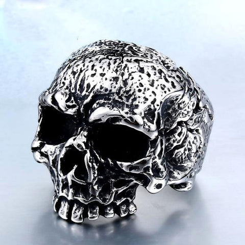 Distress Skull Ring