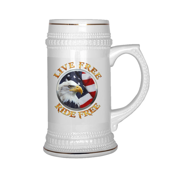 Drinkware - Live Free Ride Free Eagle Mug