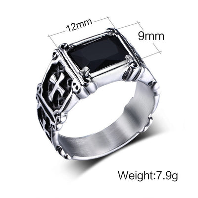 Ring - Stainless Steel Stone Signet Ring